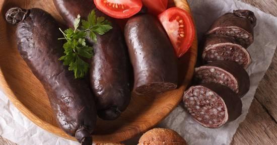 Кровяная колбаса: состав, калорийность, польза и вред. кровяная колбаса — польза и вред для организма