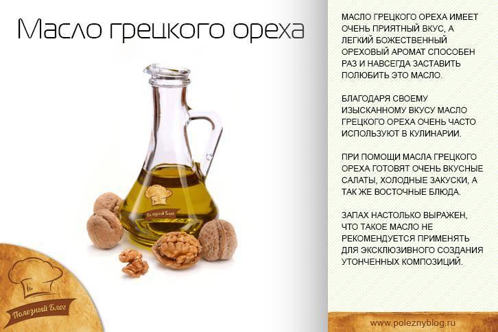 Масло грецкого ореха — полезные свойства и вред