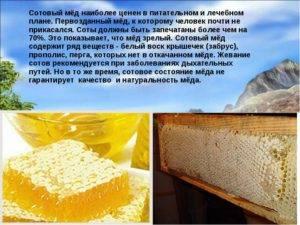 Польза меда в сотах: правила применения в пищу. может ли употребление мёда в сотах принести вред организму?