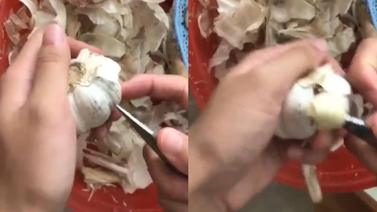 Как быстро почистить чеснок?