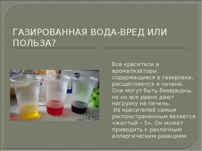Польза и вред газированной воды