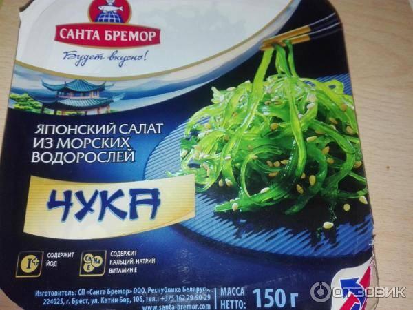 Салат чука: все о пользе и вреде морских водорослей