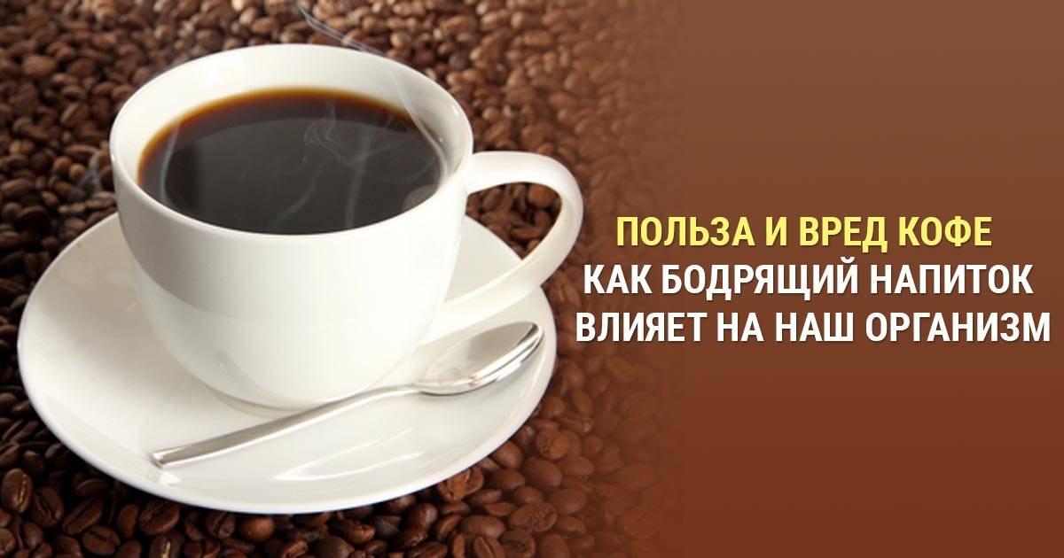 Польза и вред кофе для организма человека