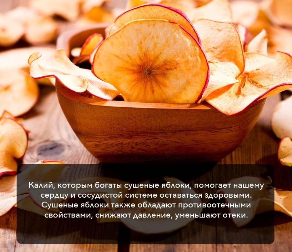 Польза и вред сушеных яблок