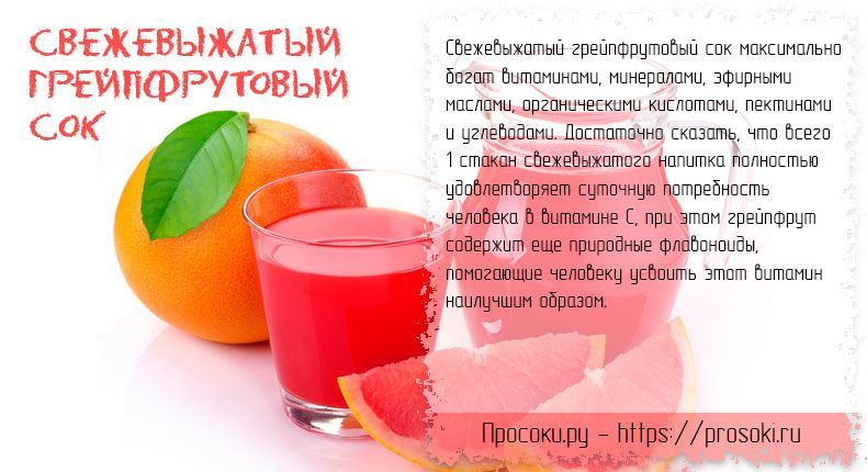 Грейпфрут: польза и вред для организма человека