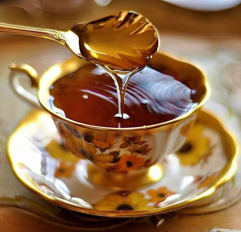 Черный чай с медом польза и вред