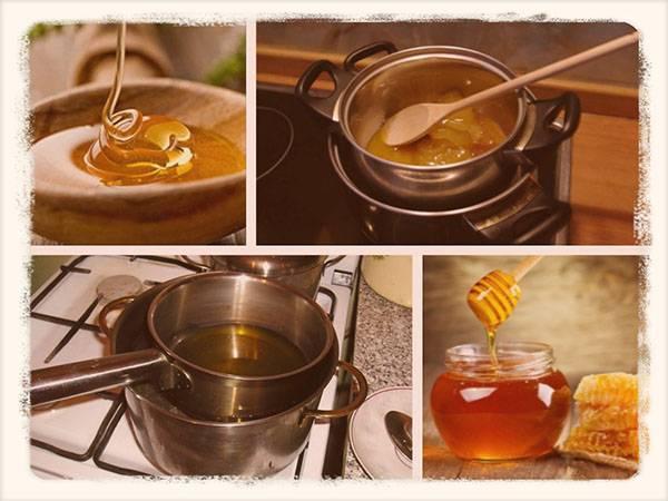 Как растопить засахарившийся мёд на водяной бане