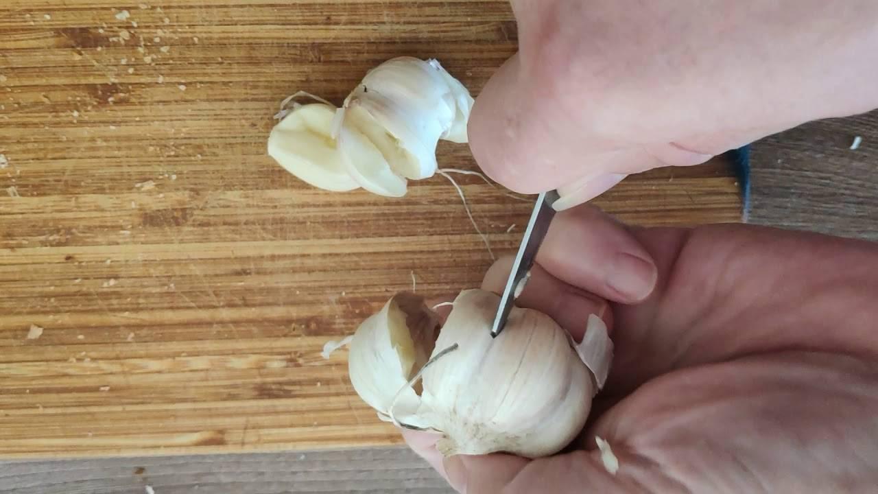 5 способов как быстро почистить головки чеснока