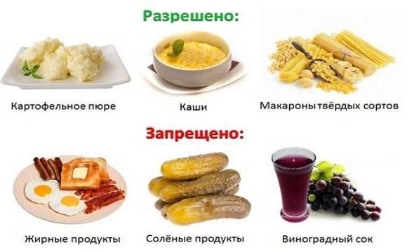 Что можно и нельзя есть при гастрите желудка: список продуктов