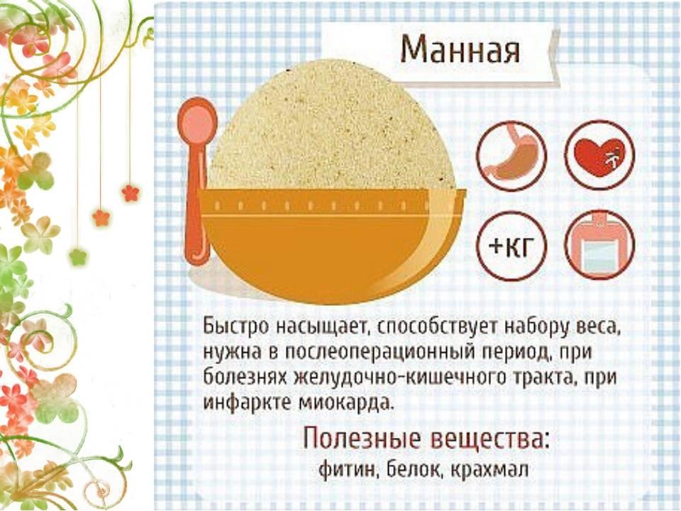 Полезные свойства манной каши для детей