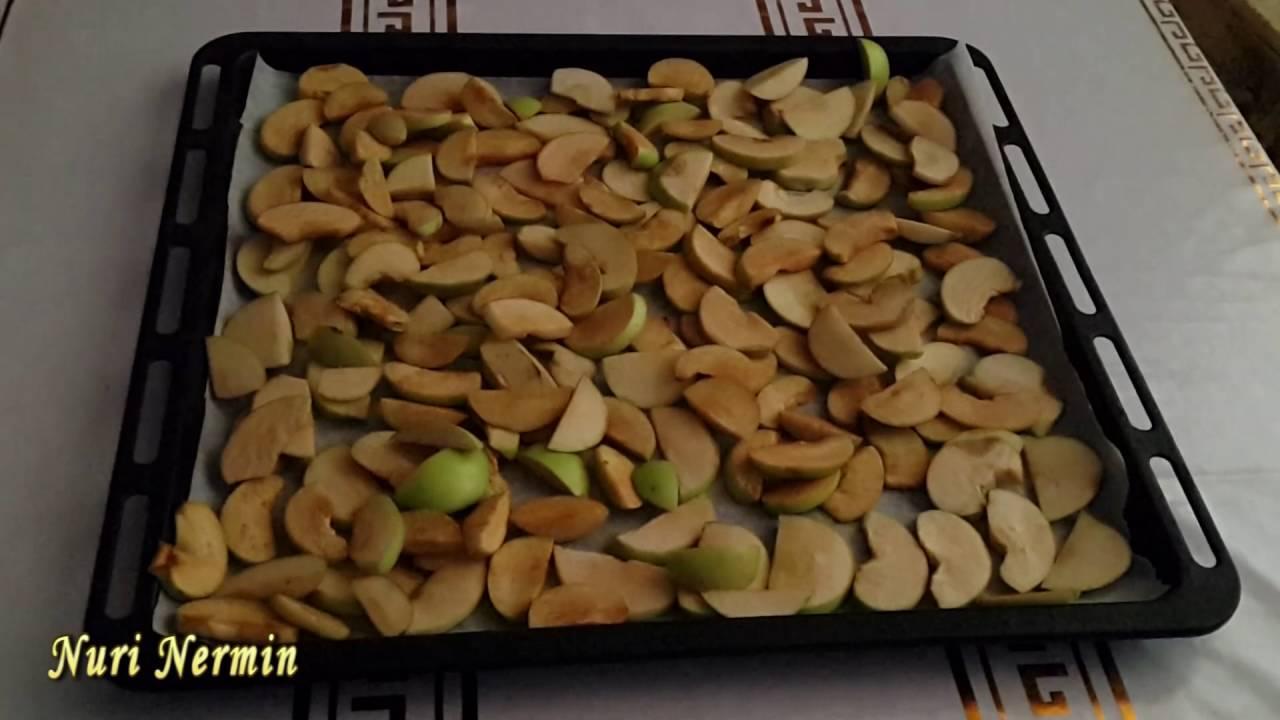 Как засушить свежие яблоки для приготовления компота зимой?