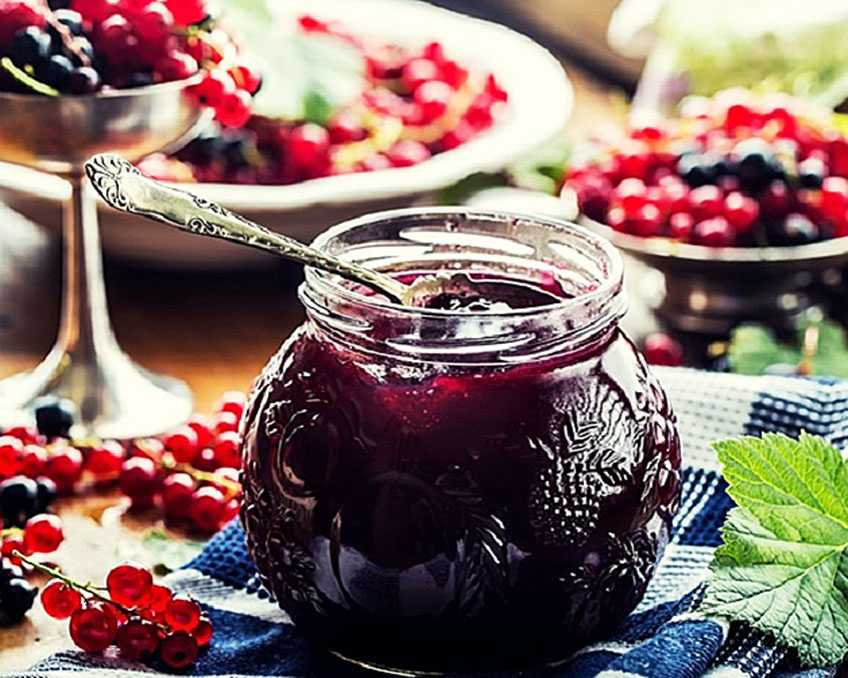 Густое варенье из красной смородины на зиму пятиминутка - 5 простых рецептов с фото пошагово