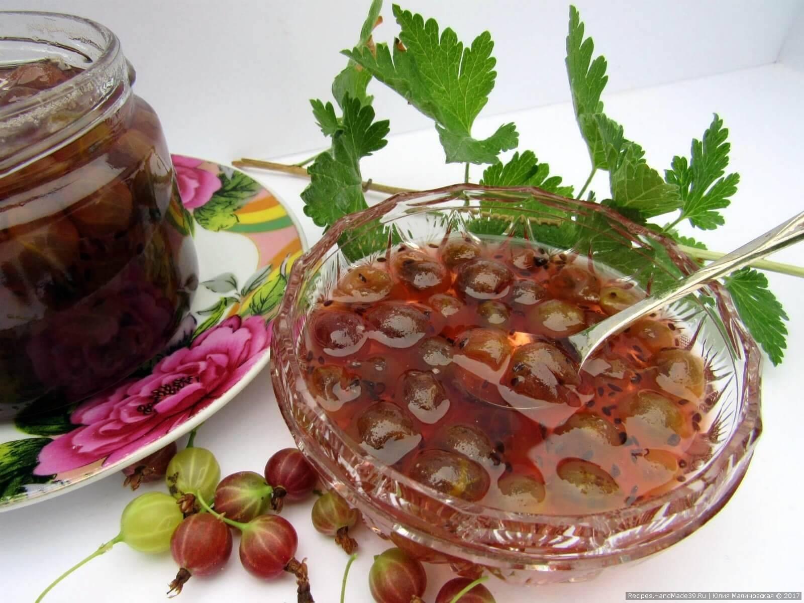 Топ 6 рецептов варенья из крыжовника с целыми ягодами на зиму