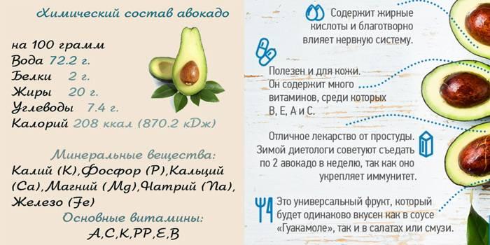 Авокадо: польза и вред в питании человека.