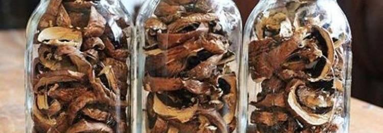 Как хранить дома сушеные грибы?