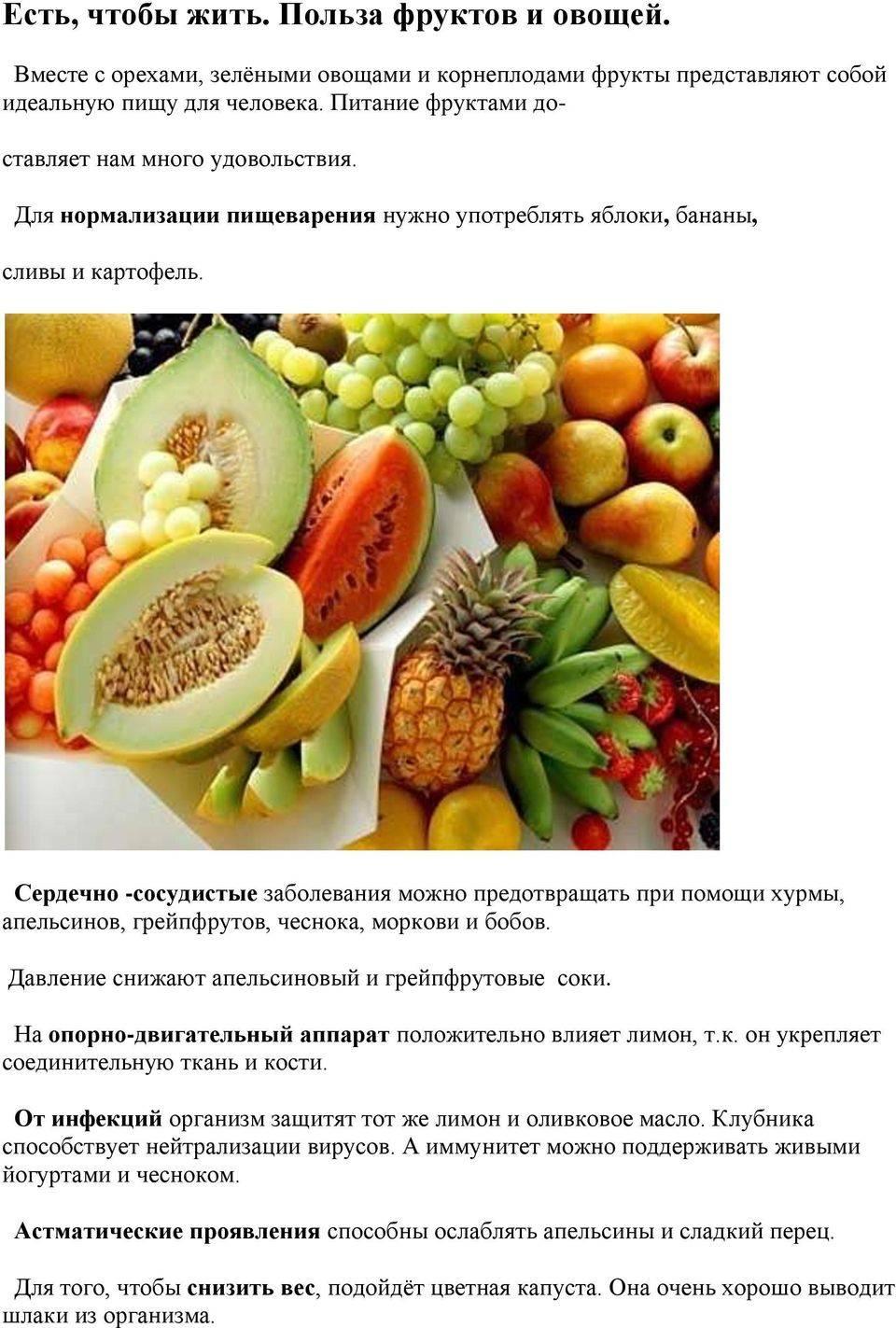 Рацион фруктов и ягод при диабете