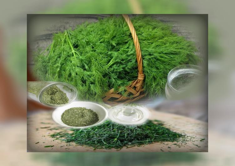 Как сушить укроп и другую зелень