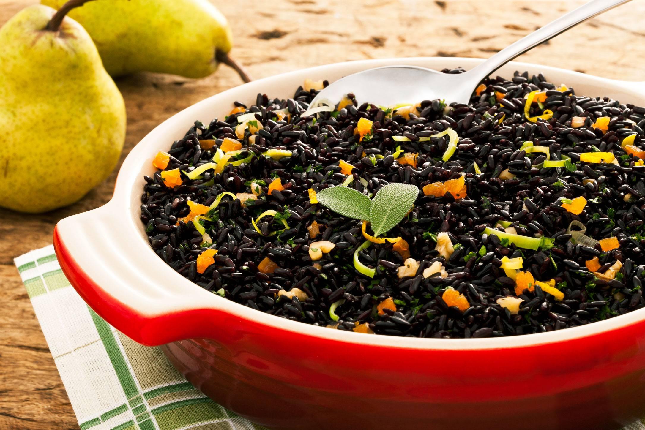 Черный рис польза и вред: состав, как готовить черный рис